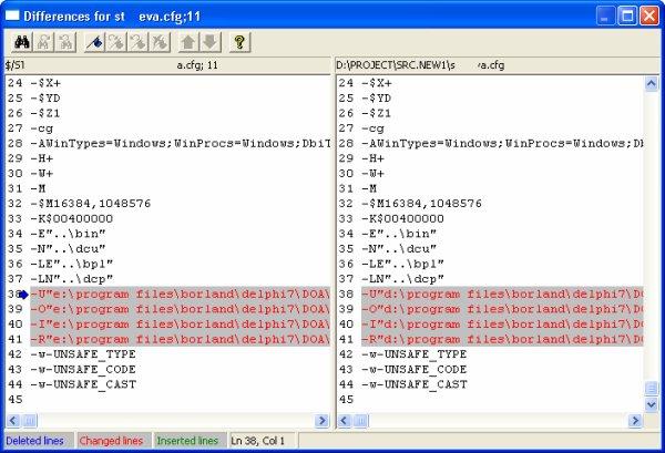 Сравнить содержимое файлов